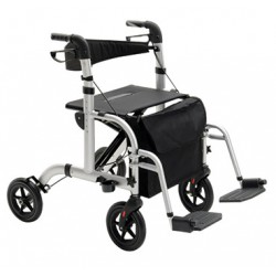Rollator 4 roues et fauteuil de transfert