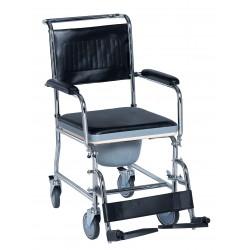 Chaise de toilette à roulettes