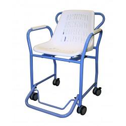 Chaise de douche intégrale à roues