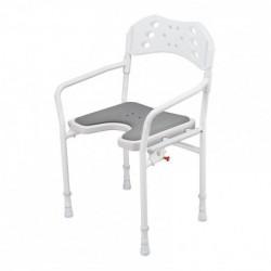 chaise de douche pliante tobago. Black Bedroom Furniture Sets. Home Design Ideas