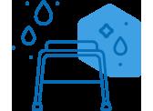 Chaises de douche/toilette
